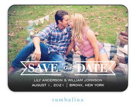 Timeless Photo Save The Date Magnet