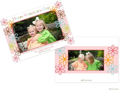 Fun Flowers Valentine's Flat Photocard