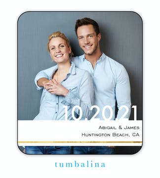 Raised Date Photo Save The Date Magnet