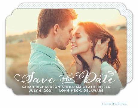 Infinity Garland Photo Save The Date Card