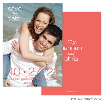 Big Date Save The Date Photo Card