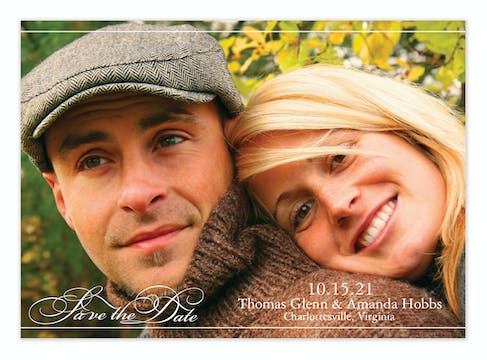 Save the Date Script Save The Date Photo Card