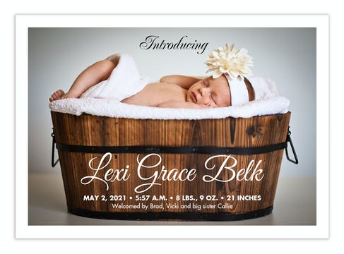 Script Name Photo Birth Announcement