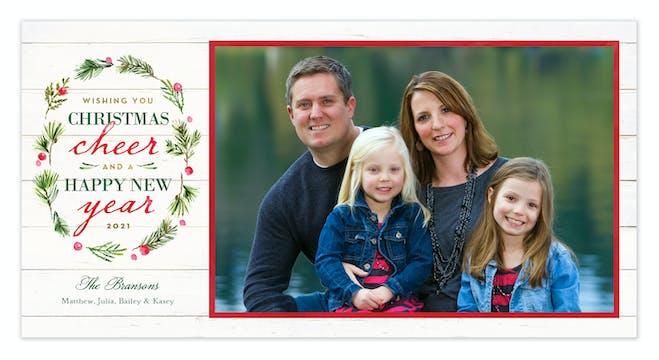 Woodland Wreath Holiday Photo Card