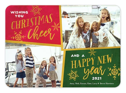 Cheer Year Foil Pressed Holiday Photo Card
