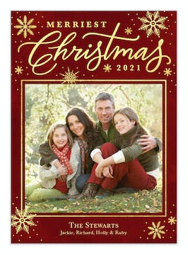 Christmas Script Holiday Photo Card