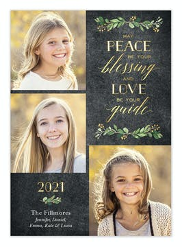 Peace Blessing Holiday Photo Card
