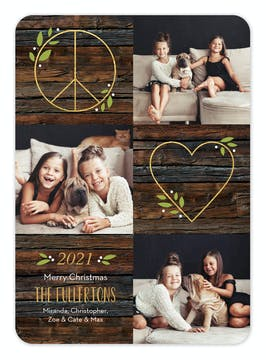 Peace and Love Holiday Photo Card