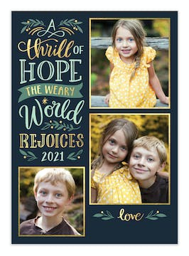 A Thrill of Hope Holiday Photo Card