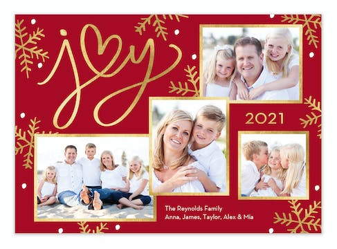 Heart of Joy Holiday Photo Card