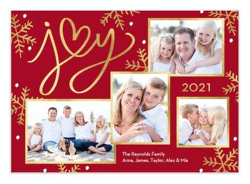 Heart of Joy Holiday Photo Card