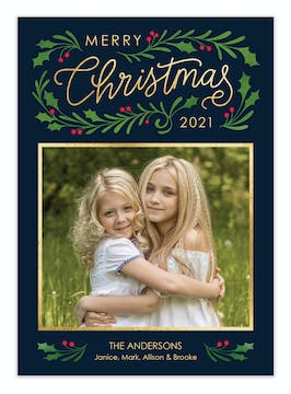 Christmas Boughs Holiday Photo Card