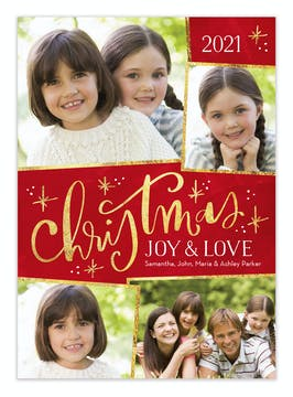 Sparkle Christmas Holiday Photo Card