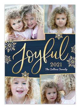 Joyful Flurry Holiday Photo Card