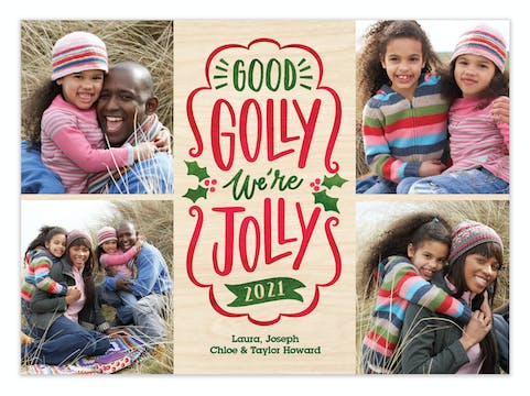 Good Golly Holiday Photo Card