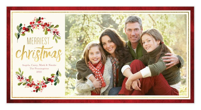 Gorgeous Garland Print & Apply Holiday Photo Card