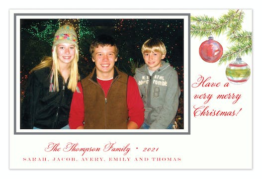 Woodland Pines Holiday Flat Photo Card