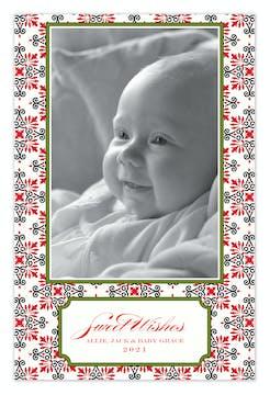 Dazzle Natural Holiday Flat Photo Card