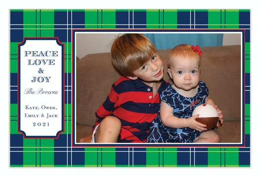 Irish Cashmere Holiday Flat Photo Card