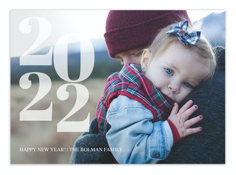 Dream Year Holiday Photo Card