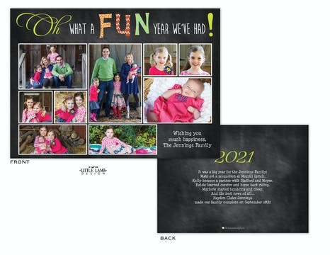 Fun Year Recap Flat Photo Holiday Card
