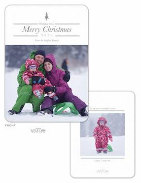 Simple Tree Flat Holiday Photo Card