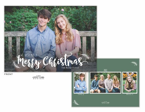 We Wish You A Merry Christmas Holiday Photo Card