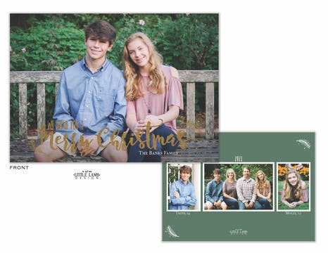 We Wish You A Merry Christmas Foil Holiday Photo Card