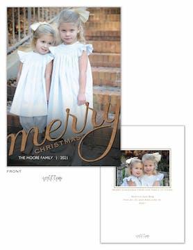 Big Merry Christmas Holiday Photo Card