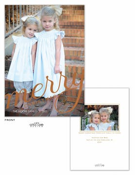 Big Merry Christmas Foil Holiday Photo Card
