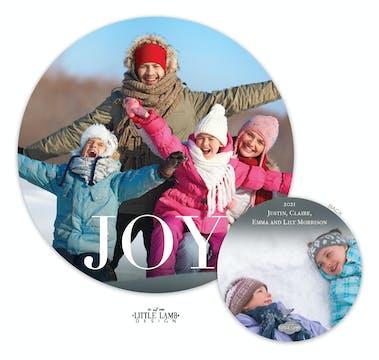 Joy Circle Holiday Photo Card