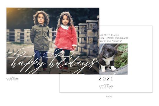 Happy Holidays Holiday Photo Card