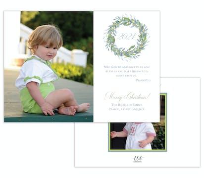 Celeste Wreath Holiday Photo Card