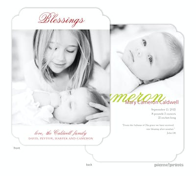 Blessings Holiday Flat Photo Card