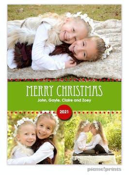 Holiday Band Green Holiday Flat Photo Card