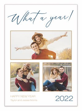 What A Year! Holiday Photo Card