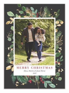 Radiant Holiday Holiday Photo Card