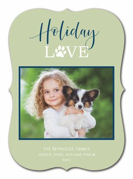 Pet Holiday Love Holiday Photo Card