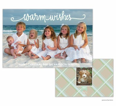 Warm Wishes Holiday Flat Photo Card (Designed by Natalie Chang)
