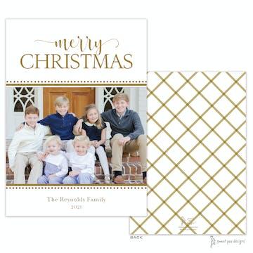 Festive Foil Merry Christmas Flat Holiday Photo Card