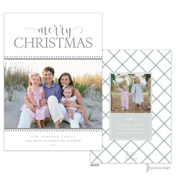 Festive Foil Merry Christmas Flat Holiday Photo Card