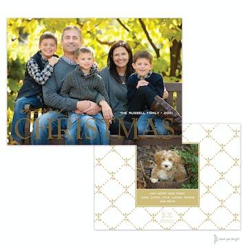 Foil Big Christmas Holiday Photo Card