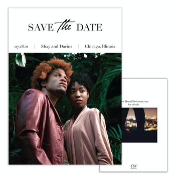 Urban Photo Save the Date