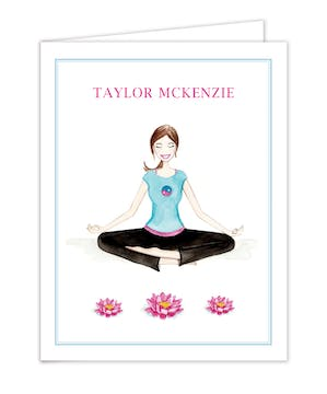 Yoga Lotus Folded Note