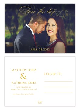 Montgomery Photo Save the Date Postcard