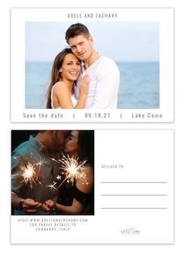 Modern Save the Date Photo Postcard