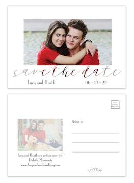 Transparent Save the Date Postcard