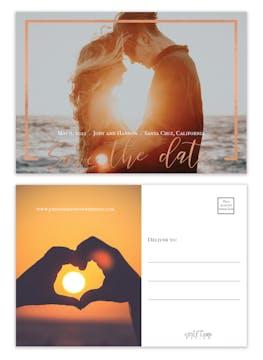 Jewel Frame Save the Date Postcard