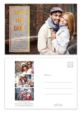 Glowing Save the Date Postcard