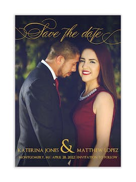 Montgomery Photo Save the Date Magnet